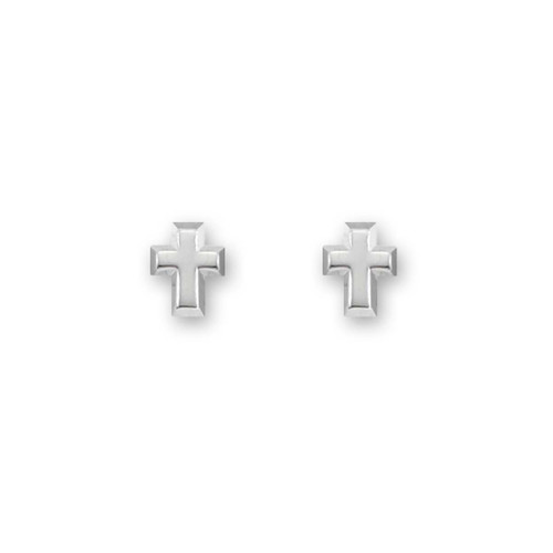 Sterling Silver Cross Post Earrings