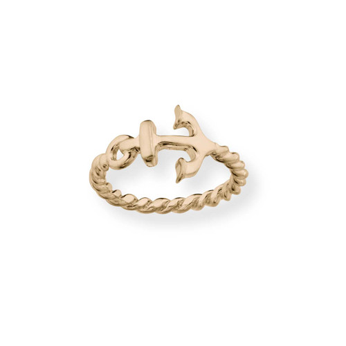14kt Gold Anchor Ring Symbol of Hope & Strength