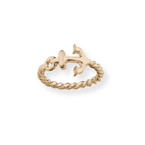 14kt Gold Anchor Ring Symbol of Hope & Strength
