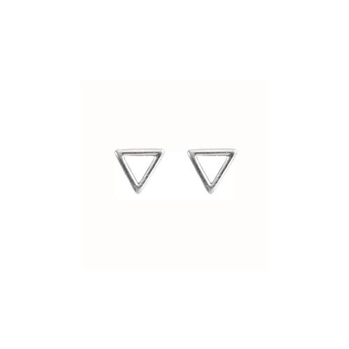 Sterling Silver Triangle Shaped Post Earrings