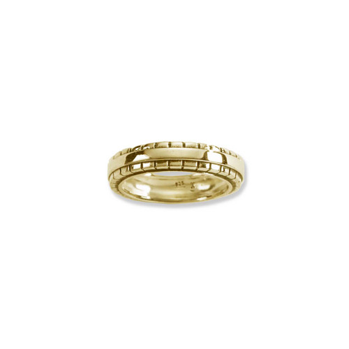 14kt Gold Cobblestone Ring With Antique Finish