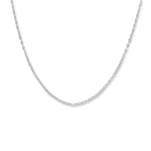Sterling Silver 1.3mm Fine Lobster Claw Cable Chain