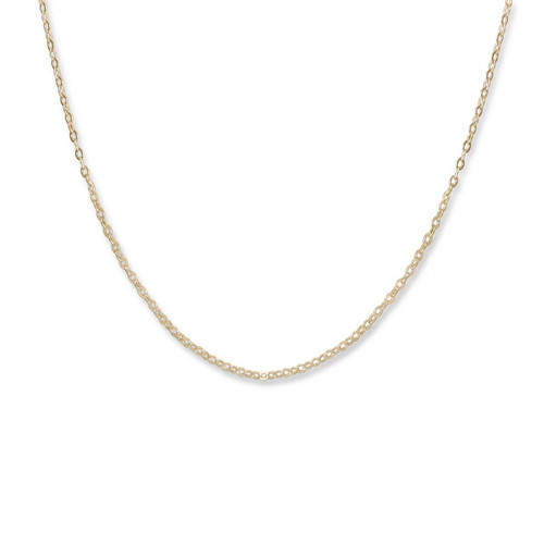 14kt Gold 1.3mm FineLobster Claw Closure Cable Chain