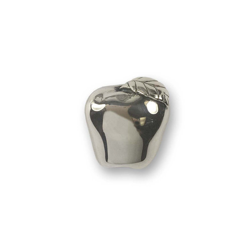 Sterling Silver Red Apple Pin