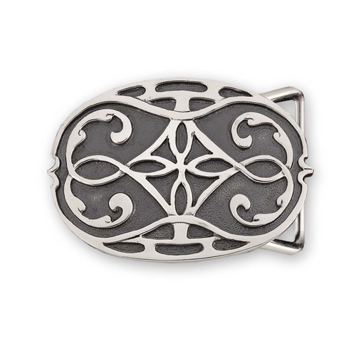 Sterling Silver Intricate Design Avalon Buckle