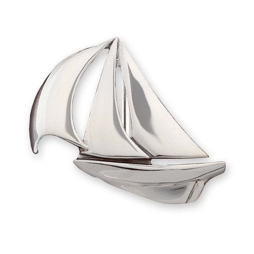 Sterling Silver Down Wind Buckle Symbolize Freedom