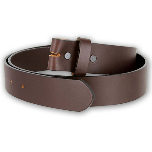 Handcrafted Genuine Cowhide Brown Leather Belt