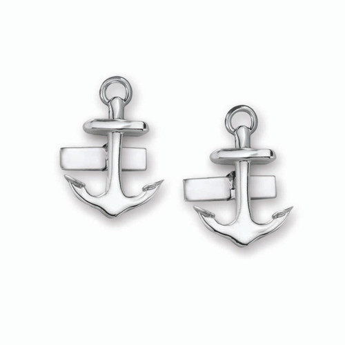 Sterling Silver Anchor Cuff Links For Man