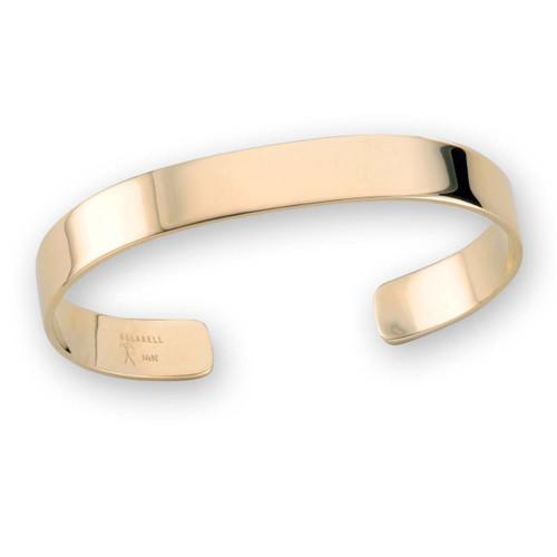 14kt Gold Rugged Cuff Bracelet