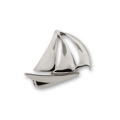 Sterling Silver Sailboat Crafted Pin