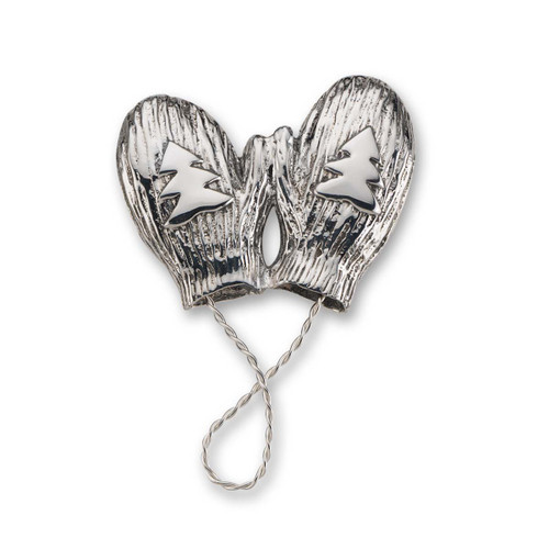 Perfect Sterling Silver Mittens Pin