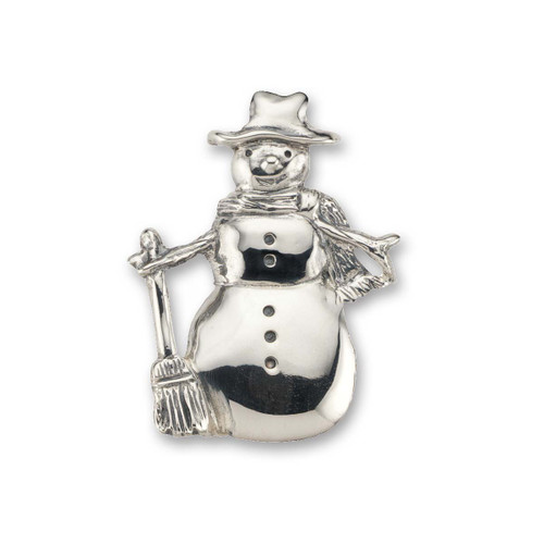 Sterling Silver Snowman Winter Pin