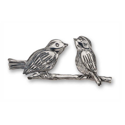Sterling Silver Wonderful Lovebirds Pin
