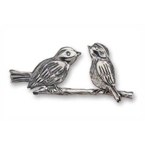 Sterling Silver Wonderful Lovebirds Pin