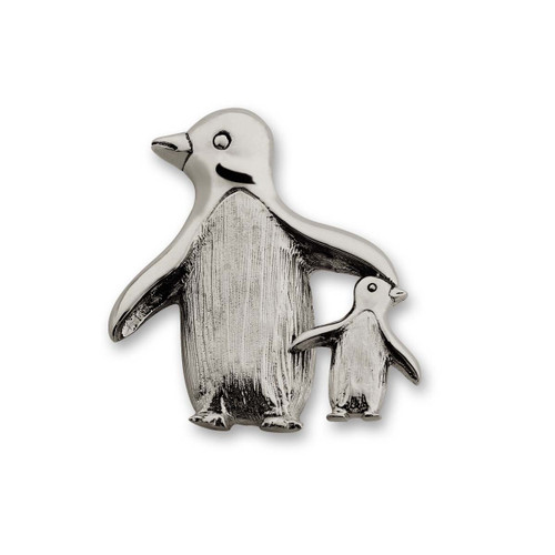 Sterling SilverMother Penguins Pin