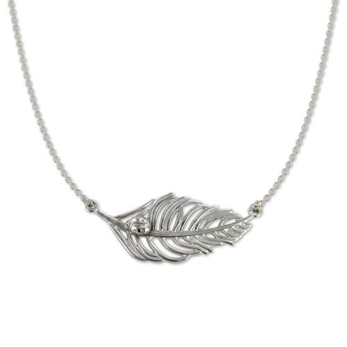 Ladybug & Feather Necklace