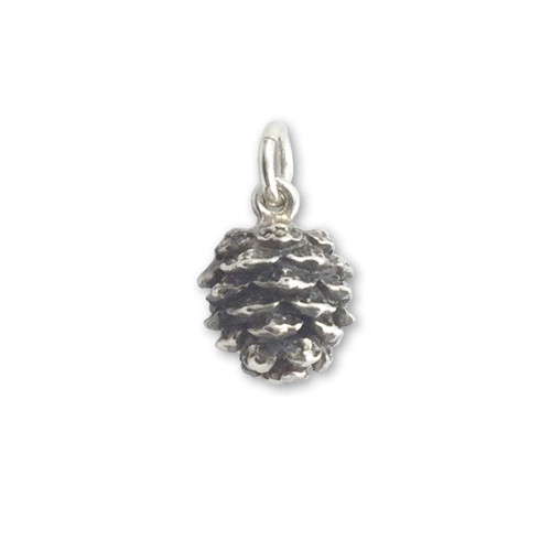 Sterling Silver Small Pinecone Charm