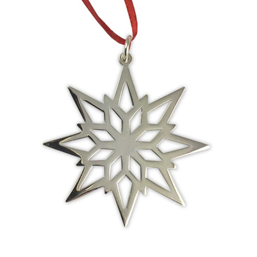 Sterling Silver 2018 Starlight Snowflake Ornament