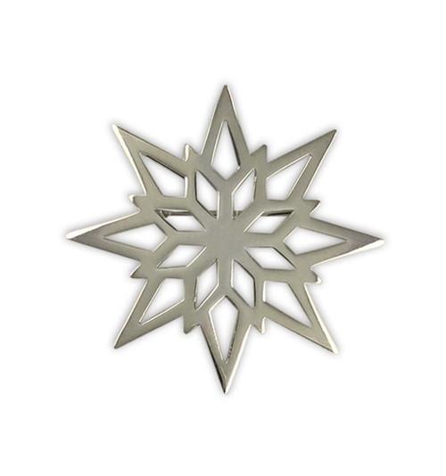 Sterling Silver 2018 Starlight Snowflake Pin