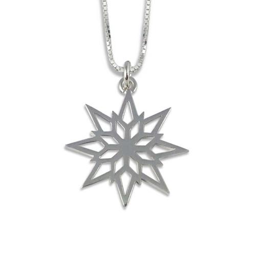 Sterling Silver 2018 Starlight Snowflake Pendant