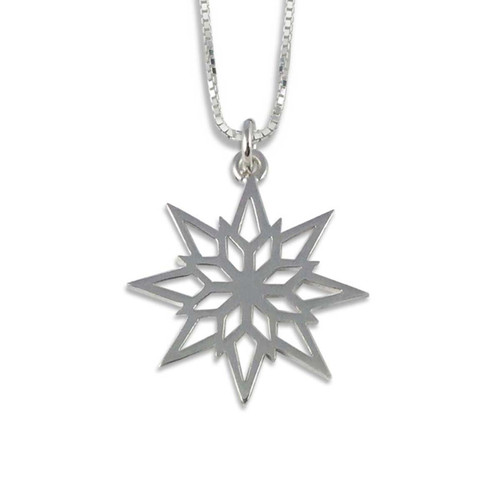 Sterling Silver 2018 Starlight Snowflake Pendant