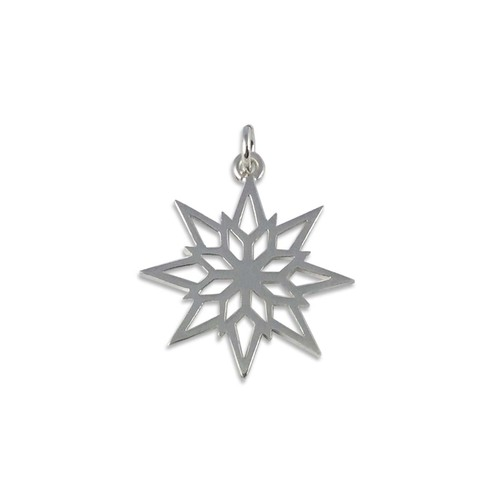 Sterling Silver 2018 Starlight Snowflake Charm