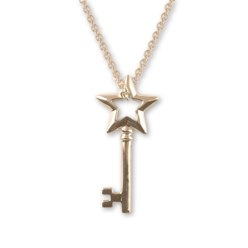 14kt Gold Star Key Pendant