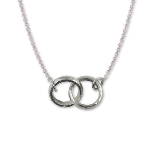 Sterling Silver Twosome Necklace