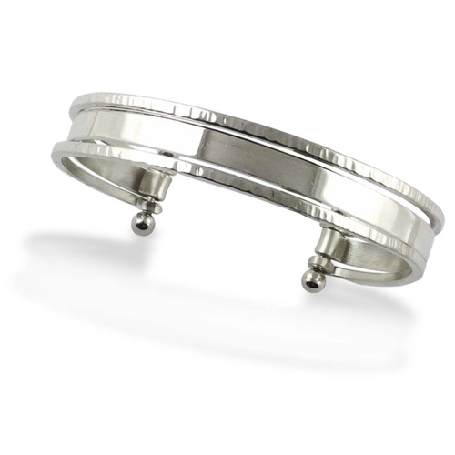 Sterling Silver Stacked Cuff Bracelet