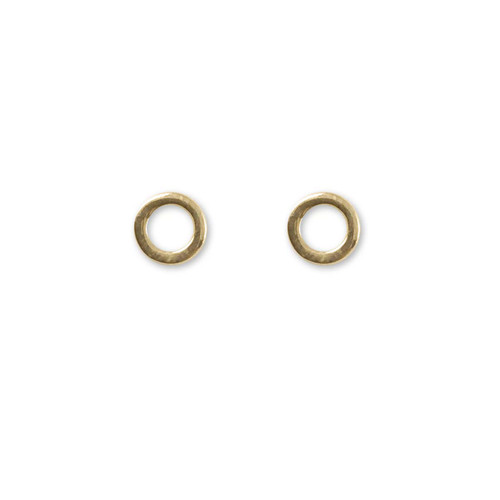 14kt Gold Circle Post Earrings
