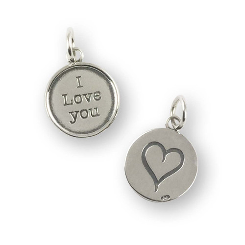 Sterling Silver I Love You Charm