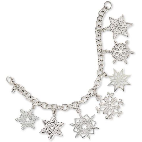 Sterling Silver 2018 Snowflake Charm Bracelet