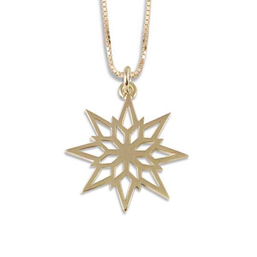 14k Gold 2018 Starlight Snowflake Pendant
