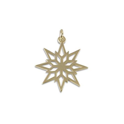 14kt Gold 2018 Starlight Snowflake Charm