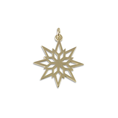 14k Gold 2018 Starlight Snowflake Charm