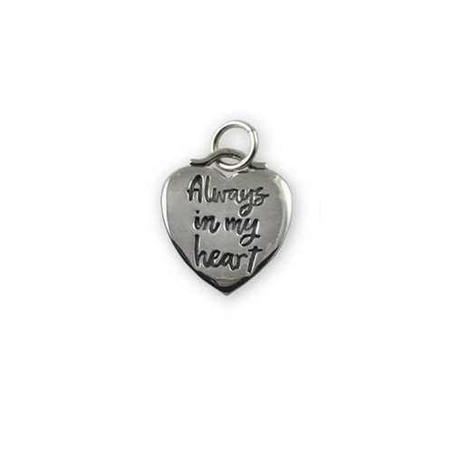 Sterling Silver Always in my Heart Charm