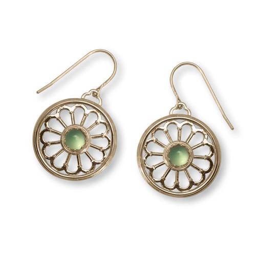 14k Gold Juliet Sea Mist Green Chalcedony Earrings