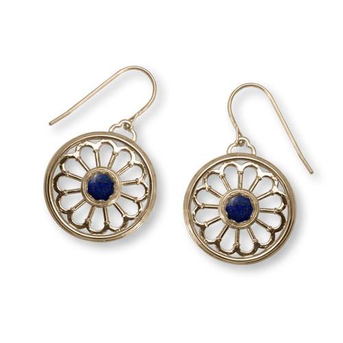 14k Gold Juliet Lapis Earrings