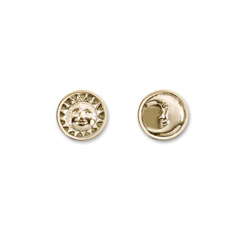 14k Gold Sun and Moon Earrings