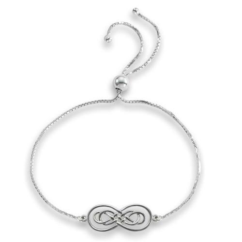 Sterling Silver Harmony Infinity Lariat Bracelet