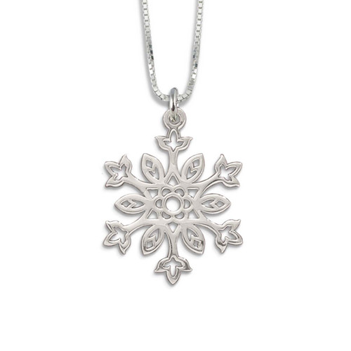 Sterling Silver 2019 Winter Garden Snowflake Pendant