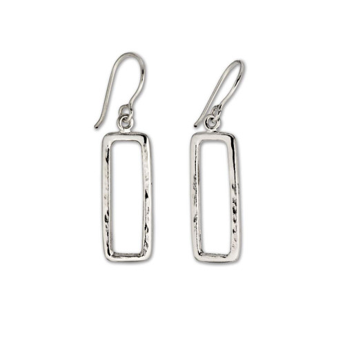 Stunning Sterling Silver Geo Earrings