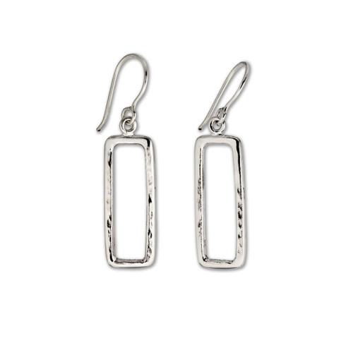 Stunning Sterling Silver Geo Earrings