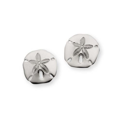 Fantastic Sterling Silver Sand Dollar Earrings