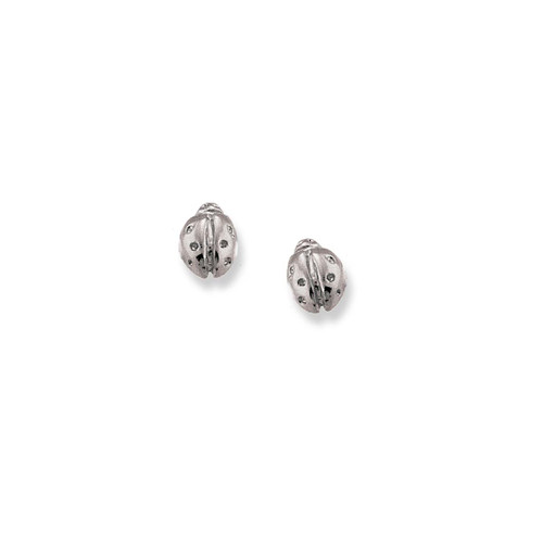 Affordable Sterling Silver Ladybug Post Earrings