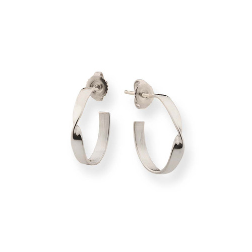 Graceful Sterling Design Silver Infinity Earrings
