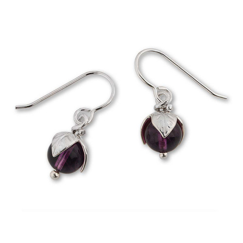 Sterling Silver Amethyst Bud Stunning Earrings