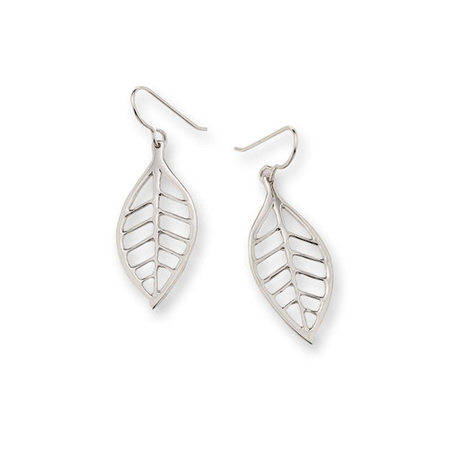 Appealing Sterling Silver Lemon Leaf Summer Earrings