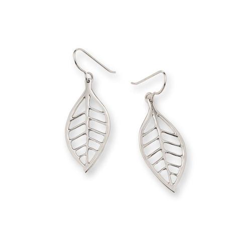 Appealing Sterling Silver Lemon Leaf Summer Earrings