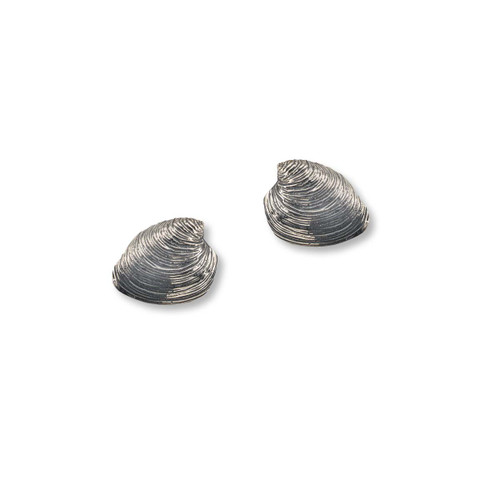 Sterling Silver Quahog Post Earrings Newport RI